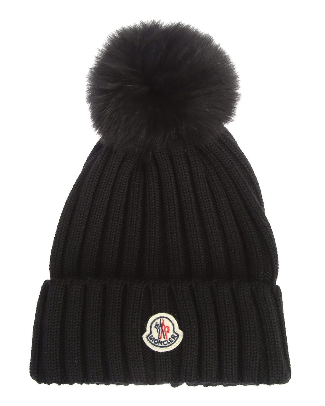 moncler-wool-hat-with-fox-fur-pom-pom