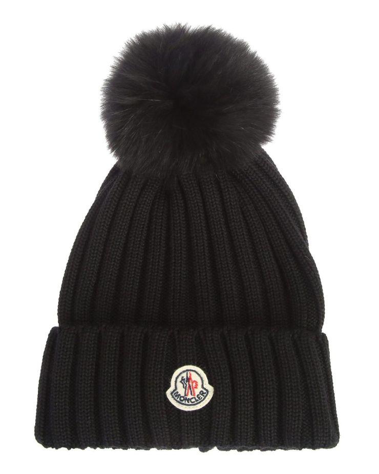 moncler-wool-hat-with-fox-fur-pom-pom